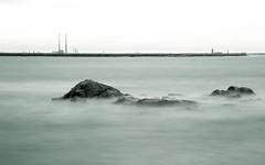 Poolbeg Chimneys from the Forty Foot (smcc2k) Tags: ireland dublin fortyfoot poolbegchimneys