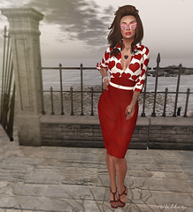 The Add some red Hunt 3 (Babi Bellic) Tags: red portrait people beauty sl secondlife babigiobellic fishunts
