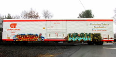 kaya -- left (timetomakethepasta) Tags: train graffiti mr left kaya freight manteca diu ase cryx kfw cryotrans
