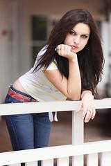 Ivana - Street Chic (Rob Harris Photography) Tags: street portrait urban woman girl beautiful beauty fashion female contrast model creative naturallight expressive denim modelling