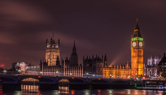 London's Big Ben (nureco) Tags: street city uk travel blue winter light sea england sky urban building london water westminster architecture night nikon cityscape bigben d800 nureco