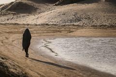 Tropical Arab (Edward Zulawski) Tags: street sunset summer brazil portrait lake art praia beach water silhouette brasil river underground sand artistic walk arab tropical toalha vero alternative calor documental