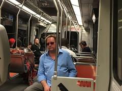 Notice How All the Passengers Take the Outside Seat So Nobody will Sit Next to Them on MUNI (Lynn Friedman) Tags: sanfrancisco security passengers muni selfish transporation 94117 lynnfriedman seatsonthebus