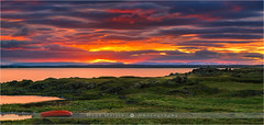 Sunset Lake Myvatn - Iceland (~ Floydian ~ ) Tags: light sunset cloud lake water clouds canon landscape photography evening boat iceland colorful warm mood view dusk wide canoe colourful skyonfire lakemyvatn floydian leefilters canoneos1dsmarkiii henkmeijer