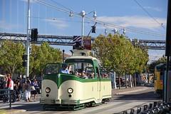 1934 English Electric # 233 & 1948 St. Louis Car Co #1009 (busdude) Tags: street england boat san francisco market tram railway muni streetcar blackpool municipal sfmuni marketstreetrailway englishelectric tramways boattram blackpooltramways muniheritage