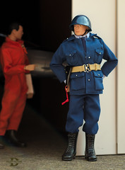 Air Police - Circa 1958 (Polish Madman) Tags: orange man max gijoe toy actionfigure photography backyard uniform doll experimental force dress action steel military air united helmet hangar guard navy attack jet police joe ap pistol figure jumper states usaf base gi protect hasbro actionman unifrom flightsuit airpolice palitoy mx25