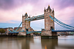 Tower Bridge and River Thames in the Morning, London, United Kingdom (ansharphoto) Tags: city uk morning travel bridge blue light vacation england sky urban house building london tower history tourism monument water stone thames skyline architecture clouds river outdoors dawn lights town twilight europe european cityscape view bright symbol britain united famous capital great kingdom landmark illuminated drawbridge british iconic embankment attraction destinations