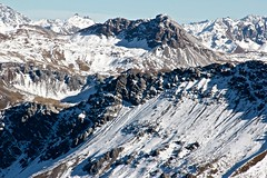 Stony face of mountains in  Arosa (minimi007) Tags: mountains spring day wandern arosa schwitzerland