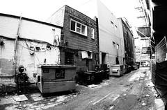 Alley (Peter_Cameron) Tags: olympusep1 olympus9mmf8fisheye
