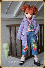 """Mom, Happy Birthday!!"" :) (cute-little-dolls) Tags: birthday cute fun toy miniature outfit doll handmade cellphone kawaii dollhouse minifigure petworks dollsize ruruko rurukodoll smiski"