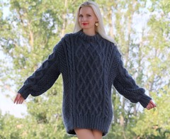 Blonde mohair wool lady (Mytwist) Tags: new woman wool girl by lady female sweater hand gray navy knit cable bulgaria mohair blonde passion jumper knitted expensive aran exclusive thick pullover laine vouge bluish webfound mytwist supertanya extravagantza123 extravagantza