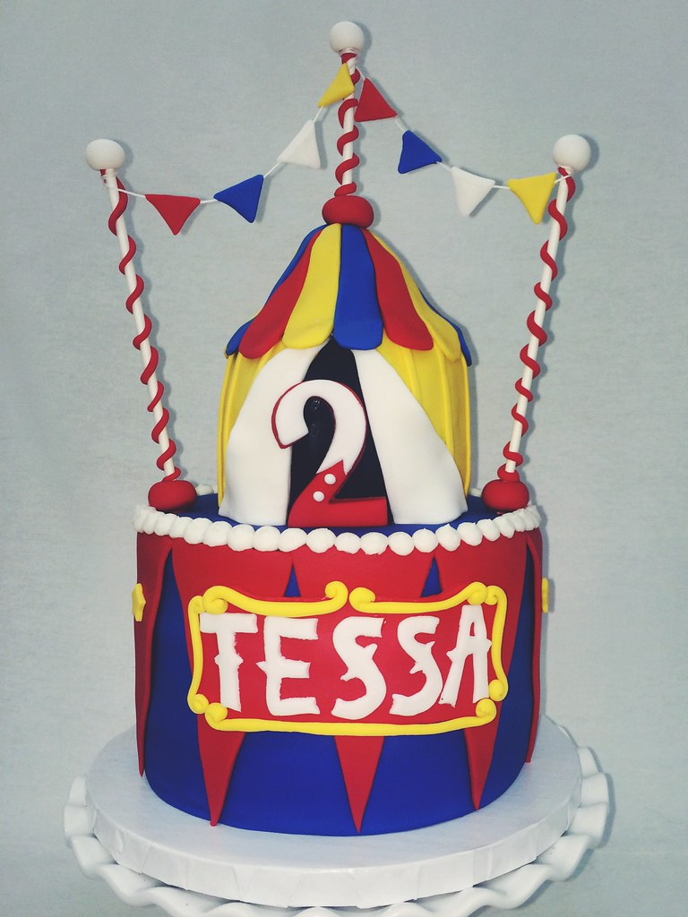 Circus Tent Birthday #circustent #circus #customcake #fondant (dannamaret) Tags & The Worldu0027s Best Photos of circus and fondant - Flickr Hive Mind