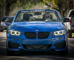2016 BMW M235i (pdebree) Tags: auto blue light car automobile dof fast front grill depthoffield bmw headlight depth bluecar bimmer mpower m235i reevesbmw reevestampa