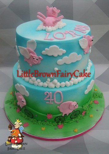 Family of Pigs cake