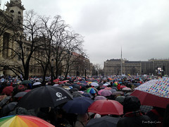 Teachers strike in Budapest in 2016 Febr 13. Nr. 2. (Csaba_Bajko) Tags: hungary parliament demonstration rainy strike teachers umbrellas