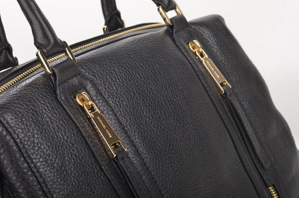 1e7b3a418baa1 Michael Kors Julia LG Satchel Handtasche 30S6GJQS3L Kalbsleder schwarz  (black) (2) (