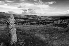 Bennett's Cross (heathernewman) Tags: uk england sky blackandwhite landscape nationalpark view cross devon vegetation moor moorland ancientmonument stonecross southwestengland ruraldartmoor