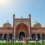 Jama Masjid, Delhi - facade and domes thumbnail