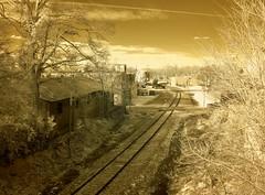 Contrail & Tracks IR (Neal3K) Tags: sepia georgia ir tracks infraredcamera griffinga kolarivisionmodifiedcamera