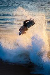 Boogie Boarder (Envios) Tags: sunset surf maui flip boogieboard kaanapalibeach mauilife