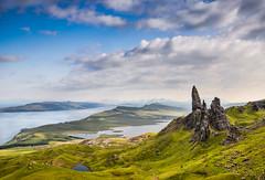 Old Man of Storr, Colour, Isle of Skye (Poulomee Basu) Tags: nature beauty trek landscape scotland highlands nikon isleofskye outdoor gorgeous naturallight adventure stunning tranquil rugged naturelovers oldmanofstorr scottishhighlands landscapephotography naturephotographers scottishlandscapes visitscotland nikond90 landscapephotographer