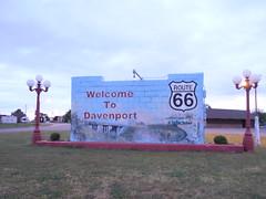 Welcome to Davenport, Oklahoma (jimmywayne) Tags: oklahoma route66 66 historic welcome davenport citylimit lincolncounty
