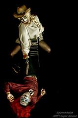 Caio e Melissa (SoloImmagine) Tags: face painting mexico skeleton skull paint mexican diadelosmuertos calavera calaca