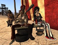 It's Ghoulish Day!11-Aposiopesis, Masaka (grady.echegaray) Tags: avatar secondlife movies psychedelic zombies yellowsubmarine thebeatles postapocalyptic ghouls digitalfashion redfestival tentrevival virtualfashion