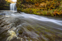 Going with the flow(Explored) (Vale Boy) Tags: water wales canon waterfall woods cymru welsh sgwd lowerddwlifalls valeboy cliverees