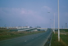 Thamesmead in 1974 (Tom Burnham) Tags: road uk london construction flats 1970s flyover thamesmead
