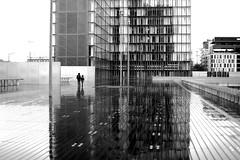The white window (pascalcolin1) Tags: reflection rain noiretblanc pluie reflet bnf streetview paris13 photoderue blackandwithe urbanarte photopascalcolin