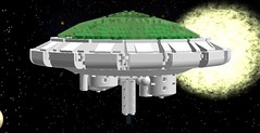 Silent Running,Valley Forge Dome (Louie Tommo) Tags: fiction ship lego wip science valley dome scifi spaceship forge douglas trumbull ldd silentrunning