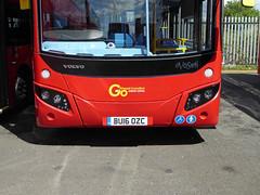 GAL MHV18 - BU16OZC - FRONT - BV BELVEDERE BUS GARAGE - THUR 28TH APR 2016 (Bexleybus) Tags: new bus london buses ahead volvo garage go egyptian belvedere bv etb mcv goahead evoseti mhv18 bu16ozc