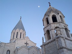 Skyline of Ghazanchetsots Cathedral (nmirak) Tags: skyline architecture shushi artsakh