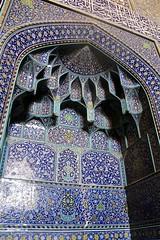 Mehrab, Sheikh Lotfollah Mosque, Isfahan, Iran (susiefleckney) Tags: iran isfahan mehrab sheikhlotfollahmosque prayerniche mihrb