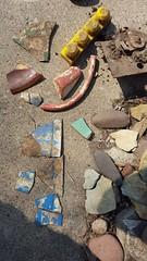 Today's garden archaeology finds (Mamluke) Tags: home broken archaeology metal garden underground ceramic found handle rust rusty dirty plastic dirt pottery shard shards find finds bitsandbobs mamluke