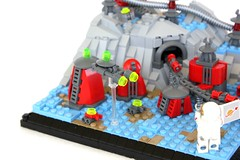 A Diminutive City (jsnyder002) Tags: city tower architecture train truck buildings model tank lego space alien tube tracks rail astronaut vehicles creation micro scifi moc