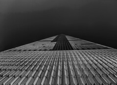 WTC 1 | Freedom Tower (liamslab) Tags: world new york city nyc blackandwhite white black tower monochrome photography freedom 1 center wtc trade linear