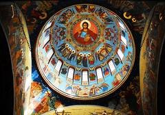 Brasov Orthodox Church (PM Kelly) Tags: travel light color colour tourism church religious interior religion romania dome orthodox buna brasov vestire outstandingforeignphotographersvisitingromania