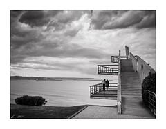 El balcn de los momentos (Jaime Martin Fotografia) Tags: sea bw blancoynegro landscape monocromo view asturias gijon