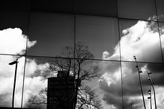 Tiled World (leftyguk) Tags: blackandwhite reflections coventry westmidlands sigma30mm14 canon760d