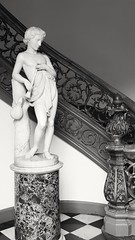 At the Peabody Institute (armykat) Tags: sculpture monochrome statue stairs blackwhite staircase android mountvernon spiralstaircase baltimoremaryland peabodyinstitute peabodylibrary samsunggalaxy androidphotography georgepeabodyinstitute