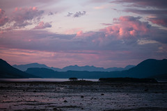 Low tide (afloden) Tags: mountain norway view no utsikt midnightsun fjell solnedgang ebb fjre troms midnattsol naturalphenomenon ebbtide naturfenomen kfjord