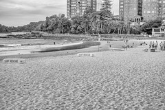 Quiet Day for Heroes (Pauls-Pictures) Tags: life camera city sea people urban blackandwhite rescue beach monochrome lens photography sand surf fuji cloudy candid manly sydney australian photographers australia fujifilm heroes emergency standard savers services streetphotos compactcamera lifesaving streetphotographer austraia streetpics streetphotograhy rescure achromatic xt1 streetpictures fxlens mirrorlesscamera australianstreetphotographers 35nmf14lens emerb lfiesavers