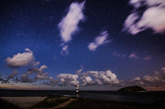 (Glen Parry Photography) Tags: longexposure nightphotography sea lighthouse seascape wales night landscape nikon nightsky blackpoint anglesey northwales sigma1020mm penmon d7000