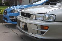 IMG_1067 (86Reverend) Tags: blue 2000 garage 25 subaru hyper 16 impreza wrx sti rs coupe 00 25rs 2016 serieshyperblue