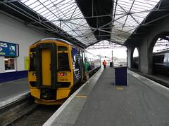 Inverness to Plockton, Inverness Train Station, Inverness, April 2016 (allanmaciver) Tags: new station start train scotland carriage railway scotrail journey wait inverness obellio allanmaciver plockton2016