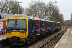166201, Farnbourough North, March 18th 2016 (Suburban_Jogger) Tags: travel public train canon reading march spring track transport railway hampshire turbo redhill vehicle passenger 1855mm firstgreatwestern 2016 dmu greatwesternrailway networker 60d 166201 class166 farnboroughnorth