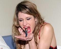 Intimdation (iggy62pop2) Tags: sexy mouth tiny handheld milf giantess vore tallwoman shrinkingman