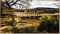 Railroad bridge over the Uncompahgre River (CAJC: in the Rockies) Tags: bridge river spring colorado railroadbridge deltaco lightroom hss sliderssunday happysliderssunday ipiccy lgg4 uncompahgreriverco lgg4cameramanualcontrol gunnisonriverdeltacountyco